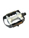 Pedal Skeppshult Aluminium Silver/Svart 9/16Axel