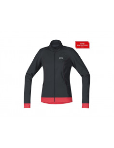 Jacka Gore C3 Women Windstopper Thermo | Svart/Rosa |
