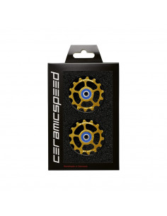 Pulley Wheels Ceramic Speed Alloy Eagle 14 Guld
