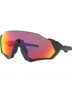 Glasögon Oakley Flight Jacket Mattenblk/Polished Blk Prizm Road