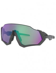 Glasögon Oakley Flight Jacket Matte steel/Polished Grey Prizm Road Jade