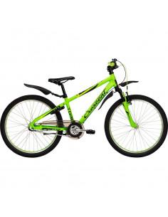 Cykel Crescent Torn 24 Pojk 3-vxl Matt lime grön